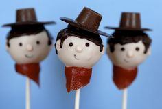Rootn' Tootn' Cowboy Cake Pops..how cute are these?  And just in time for the Houston Livestock Show and Rodeo!