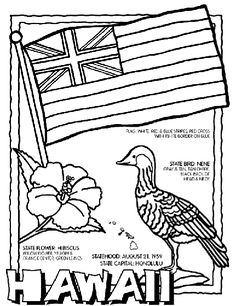 hawaii state symbol coloring page by crayola print or color online - Pictures Of Coloring Sheets