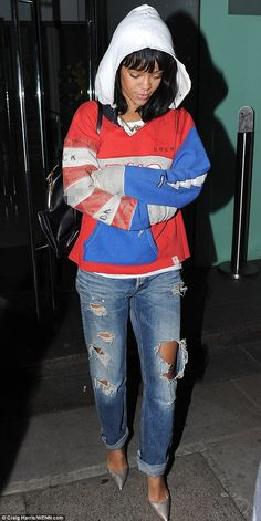 Rihanna and Drake step out for another dinner date on Sunday evening (March 9) in London, England.