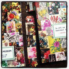 Creatief met restjes - mini labeltje uit het prachtige @flow_magazine postcard book. Vond het zonde om een label uit de kaft te knippen want daar kan ik weer kaartjes van maken hihi.