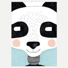 Big Panda 30 x 40cm Print by seventytree on Etsy