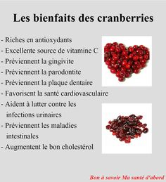 Bienfaits des cranberries