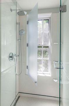 54 Trendy Bathroom Shower Window Privacy Walk In Bathroom Windows In Shower, Window In Shower, Shower Tub, Shower Stalls, Bathroom Small, Shower Screen, Bathroom Ideas, Bathroom Mirrors, Shower Doors