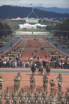 2012 ANZAC Day Australian War Memorial Canberra by nanningbear, via Flickr - the Old Parliament House is in the background, with the 'new' House of Parliament behind it.