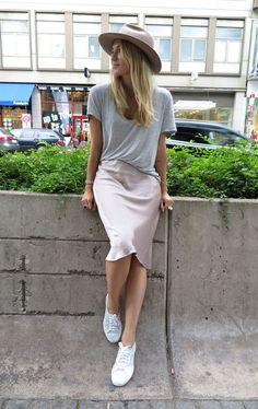 Zara skirt & Superga shoes | Josefin Dahlberg