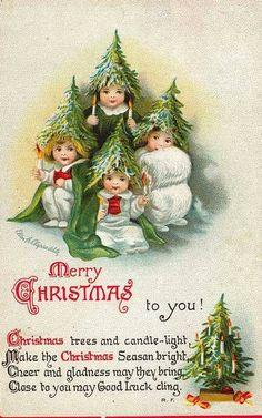 Carte ancienne de Noël / B.