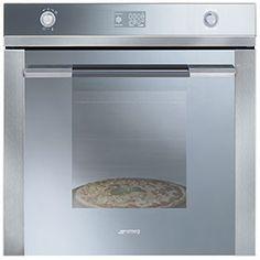 SF122PZ: Einbaubackofen mit Pizzafunktion, Edelstahl, Energieeffizienzklasse A-20%. Schauen Sie selbst auf www.smeg.de