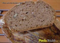 žitno celozrnný kváskový chleba Russian Recipes, Bread, Cooking, Polish, Diet, Recipies, Kitchen, Vitreous Enamel, Brot