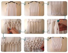 DIY Tutorial: T-Shirt Refashion / Refashion a t-shirt: Cut & Tie knotted crop top - Bead&Cord