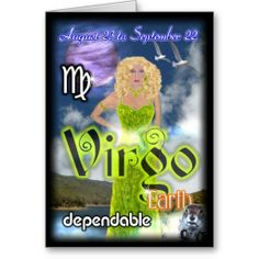 Virgo Zodiac Birthday card