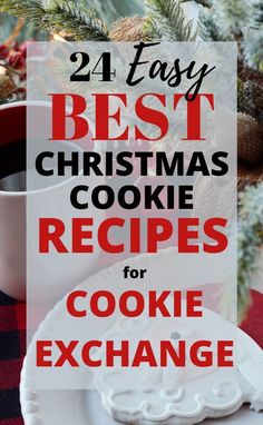 """Need a sweet little recipe to bring to a Christmas cookie exchange? Check out these Easy Christmas Cookie Recipes for Cookie Exchange""""! These are the BEST Christmas cookie recipes that will be a winner with your friends! Easy Christmas Cookie Recipes, Christmas Cookie Exchange, Best Christmas Cookies, Christmas Desserts, Christmas Treats, Christmas Parties, Holiday Foods, Holiday Treats, Christmas Baking"""