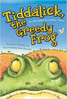 """Read """"Tiddalick, the Greedy Frog: An Aboriginal Dreamtime Story"""" by Nicholas Wu available from Rakuten Kobo. Tiddalick the Frog has drunk all the water from the river! The animals try their best to get Tiddalick to give back the . Aboriginal Education, Indigenous Education, Aboriginal Culture, Indigenous Art, Aboriginal Symbols, Australian Animals, Australian Art, Animal Activities, Preschool Activities"""