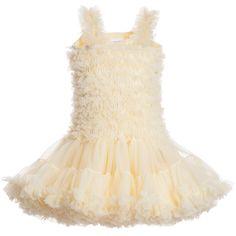 Angel's Face Primrose Yellow Chiffon Frilled Tutu Dress at Childrensalon.com
