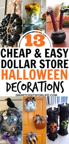 13 Cheap and Easy Dollar Store Halloween Decorating Ideas - Want a Halloween on a budget? Find out how to make fantastic Halloween decoration ideas out of cheap Halloween Dollars! These different Halloween decoration ideas Diy Halloween Party, Creepy Halloween Decorations, Dollar Store Halloween, Halloween Celebration, Halloween Cupcakes, Halloween Crafts, Halloween Ideas, Halloween 2020, Spooky Halloween