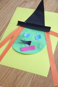 Witch Shape Craft {Inspired by Room on the Broom} Toddler Approved!: Witch Shape Craft {Inspired by Room on the Broom} Halloween Books, Halloween Crafts For Kids, Halloween Activities, Halloween Themes, Halloween Diy, Preschool Halloween, Toddler Halloween, Baby Crafts, Toddler Crafts