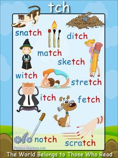 tch words - Free & Printable Phonics Poster - Ideal for your Word Wall