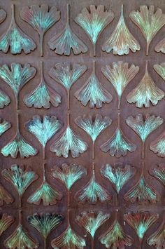 Ginkgo Gate, Adelaide Botanic Garden | by Chris&Steve Australian Artists, Public Art, Botanical Gardens, Biscuit, Art Nouveau, Print Patterns, Art Pieces, Arts And Crafts, Textiles