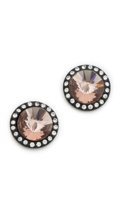 cone stone stud earrings / juicy couture