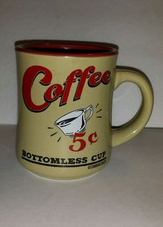 Schonberg Mug Bottomless Coffee Cup 5 cents Vintage  #Schonberg