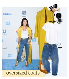 """""""Oversized coats ft. Selena Gomez"""" by earthangell ❤ liked on Polyvore featuring Libertine-Libertine, Wrangler, H&M, Fallon, Jimmy Choo, Alex and Ani, Bling Jewelry and Bobbi Brown Cosmetics"""