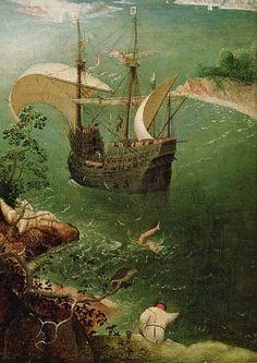 "tierradentro:  ""Landscape with the Fall of Icarus"" (detail), c.1558, Pieter Bruegel the Elder."