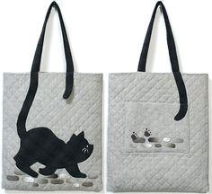 【代購】貝田明美 提袋材料包/庭院裡的貓_貝田明美的手提袋材料包 T系列_貝田明美的材料包_名師特區_麻雀屋手藝工坊 | 小蜜蜂手藝世界 | 就是拼布精品