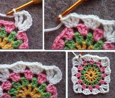Gjør det selv: Hekla Bestemorsruter | Crochet Square Patterns, Knit Crochet, Blanket, Knitting, Diy, Build Your Own, Blankets, Tricot, Bricolage