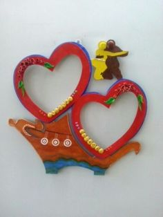 Clay luv  photo frame