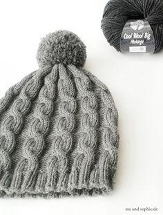 Baby Knitting Patterns Yarn simple knit hat with cable pattern # cap . Baby Knitting Patterns, Crochet Patterns, Crochet Baby, Knit Crochet, Crochet Stitch, Single Crochet, Free Crochet, Pull Bebe, Knitting Projects