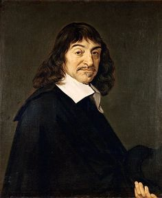 René Descartes is geboren op 31 maart 1596 in La Haye en Touraine, Frankrijk. Hij is gestorven op 11 februari 1650 in Stockholm, Zweden. De ouders van Descartes behoorden tot de bourgeoisie. . Hij was ervan overtuigd dat hij dat hij omdat hij kon twijfelen, hij wel moest bestaan.  'Cogito ergo sum' = ik denk dus ik ben. Niets is zeker, hij twijfelde aan alles. → Twijfel is het beginpunt van de wetenschap.