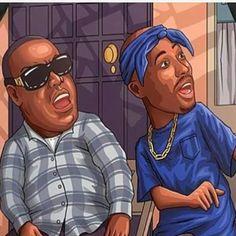 Pac and Biggie artwork