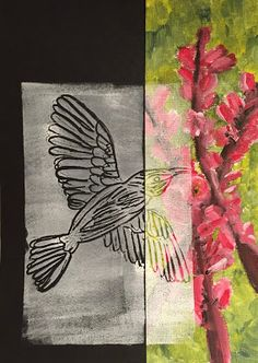 Doodlebug Dabblings: mixed media birds- acrylic and printmaking