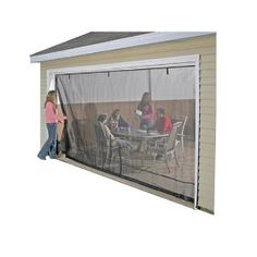 Shelterlogic Roll-Up Garage Screens With Pipe $66.30 - $106.95