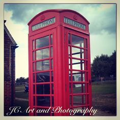 Striking phone box at the museum of Kent life in Kent, England