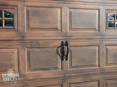 diy faux stained wood garage door tutorial, diy, garage doors, garages, how to, painting