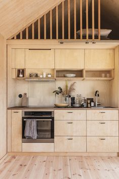 Kitchen Cabinet Design, Kitchen Decor, Tiny Mobile House, Backyard Cabin, Plywood Interior, Rose House, Diy Cabin, Haus Am See, A Frame House