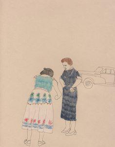 Erin Gilkes - Mildred - Pen & Pencil Crayon - 2009 21x27cm