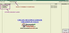 How to Create GST Multiple Ledger Creation in Tally