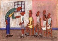 Classroom Scene by William H. Johnson / American Art
