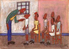 Classroom Scene by William H. Johnson / American Art