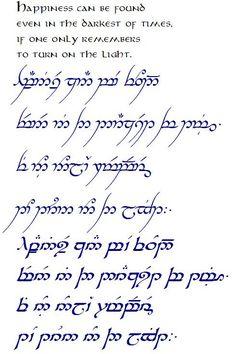 Harry Potter quote in Elvish Elbisches Tattoo, Elvish Tattoo, Tolkien Tattoo, Body Art Tattoos, Tattoo Quotes, Tatouage Tolkien, Elvish Writing, Henna Tatoos, Elvish Language
