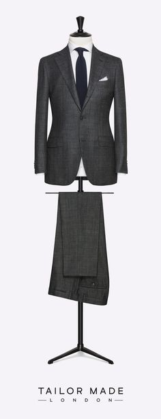 Tailor Made London dark grey 2-piece suit.