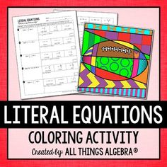 Solving equations, Equation and High schools on Pinterest