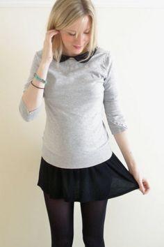 Sweater over dress :)