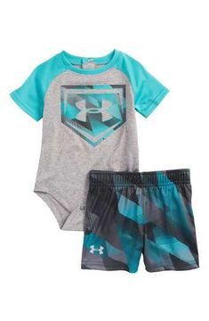 Under Armour Electric Field Baseball HeatGear® Bodysuit   Shorts Set (Baby  Boys) Toddler c8355d1d9