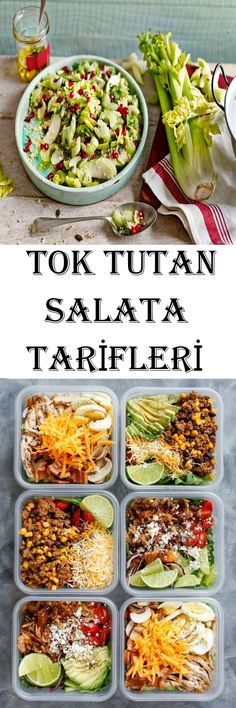 Tok Tutan Salata Tarifleri Turkish Salad, Meal Prep, Salad Recipes, Diet Recipes, Healthy Recipes, Cooking Recipes, Turkish Recipes, Ethnic Recipes, Dressing