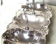 Silver filled english tray