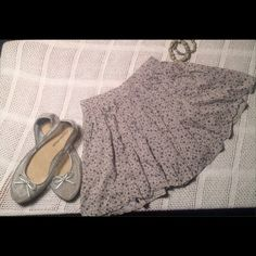 Authentic Brandy Melville Floral Skater Skirt Adorable light blue pleated flouncy skirt.  Very gently worn.  Reasonable offers will definitely be entertained as I am way too old and way too in the middle of my Pennsylvania winter bulk to rock this . Brandy Melville Skirts Circle & Skater