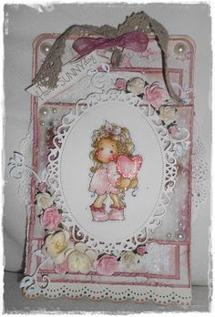Tilda hiding heart, With love collection, Magnolia stamps