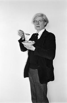 Andy Warhol eating corn flakes. #Expo2015 #Milan #WorldsFair